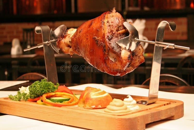зажженный свинина стоковые фото