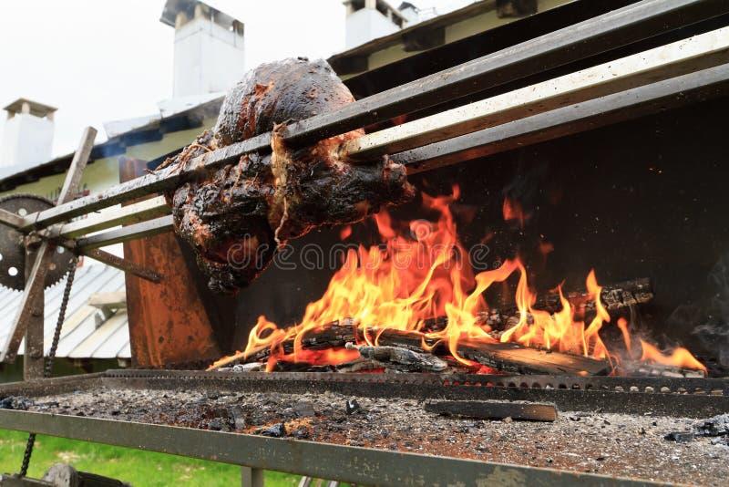 зажженный свинина стоковая фотография rf