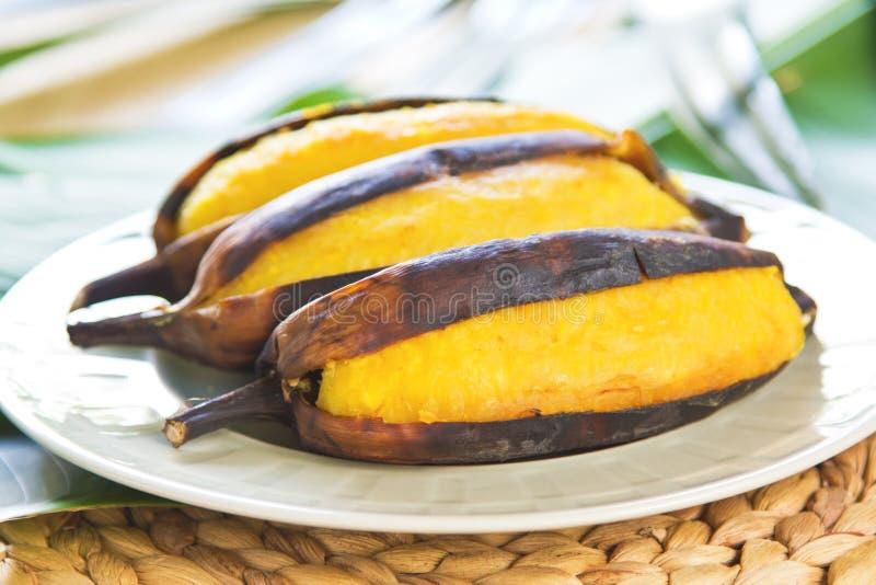 Зажженный банан стоковые изображения rf