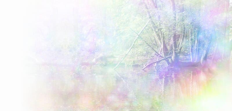 Заживление заголовок вебсайта природы иллюстрация штока