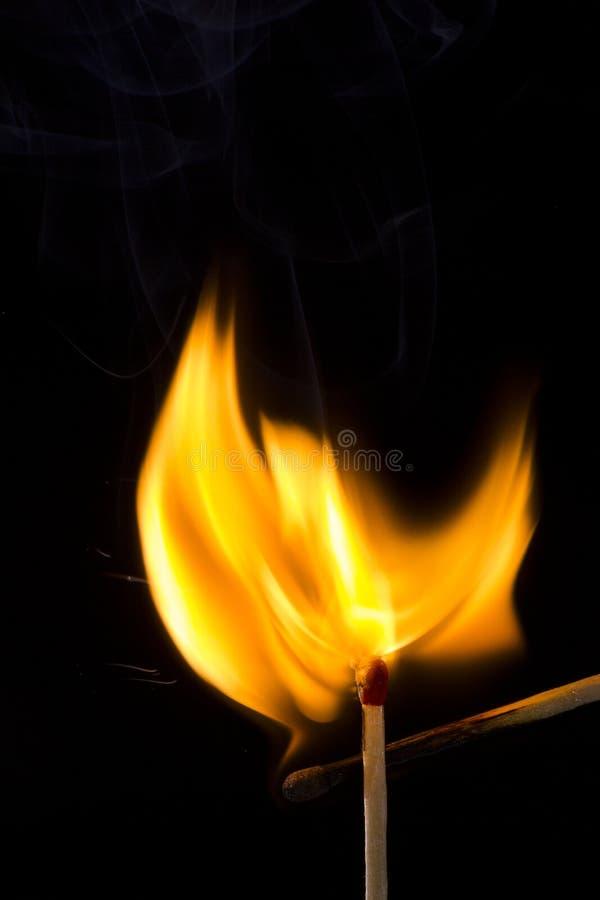 Зажигание спички стоковая фотография rf