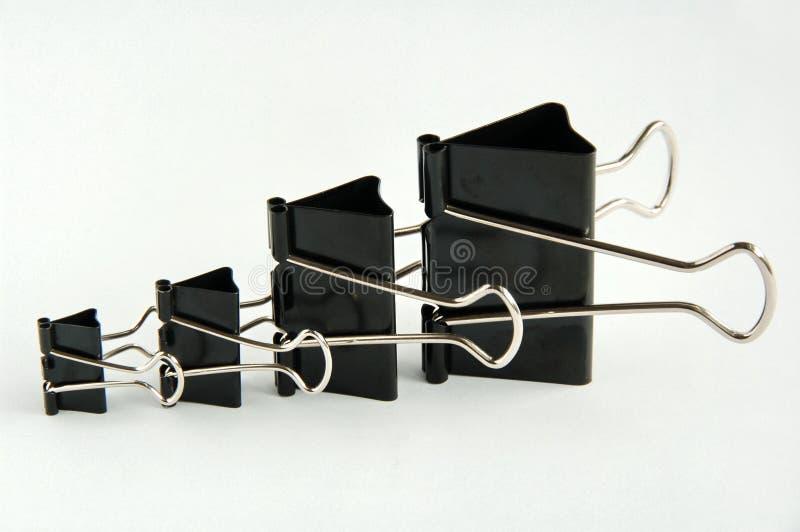 зажимы связывателя upsize стоковая фотография rf
