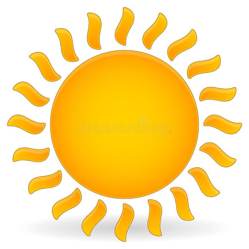 Зажим-искусство вектора Солнця иллюстрация вектора