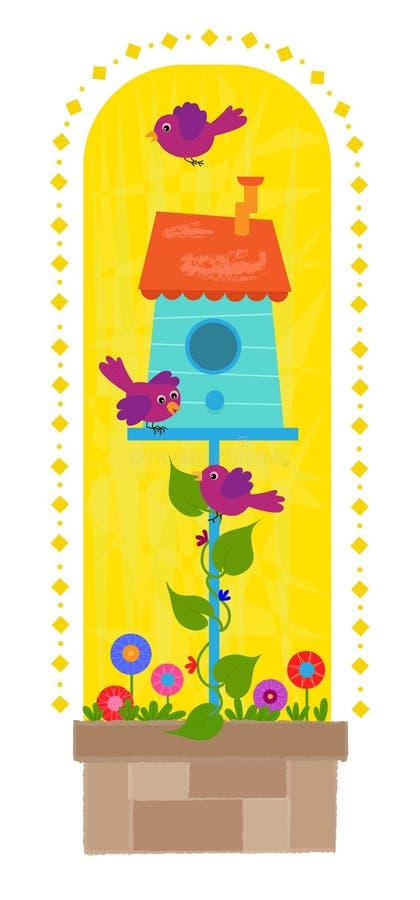 Зажим-искусство Birdhouse иллюстрация штока