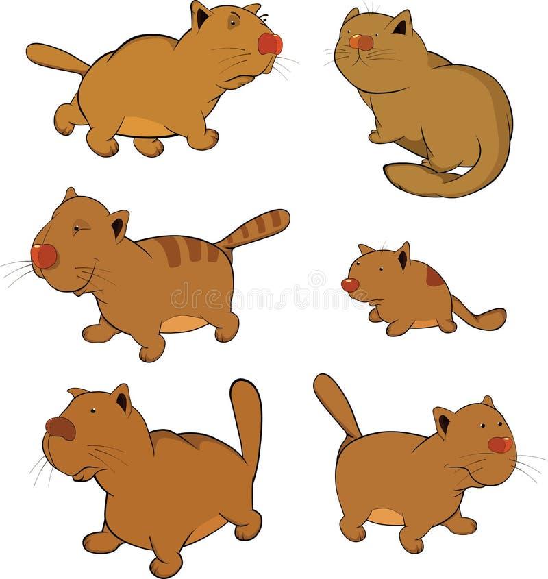 зажим котов шаржа искусства иллюстрация штока