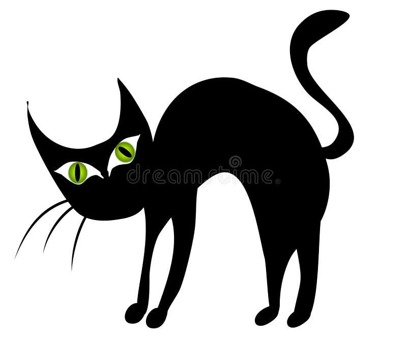 зажим черного кота 2 искусств изолировал иллюстрация вектора