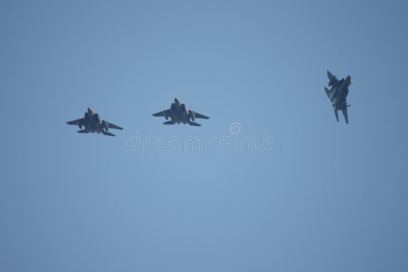 Зазвуковой воинский боевой самолет двигателя стоковые фото