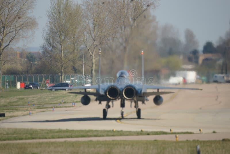 Зазвуковой воинский боевой самолет двигателя стоковое фото