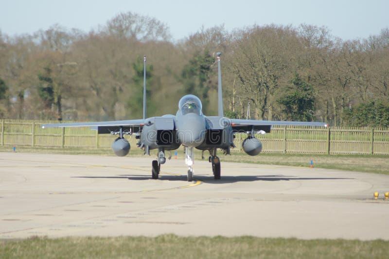 Зазвуковой воинский боевой самолет двигателя стоковое изображение rf
