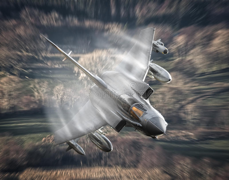 Зазвуковой реактивный самолет стоковые фото