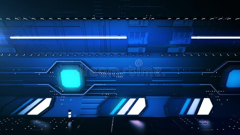 Зазвуковой темный тоннель метро иллюстрация вектора