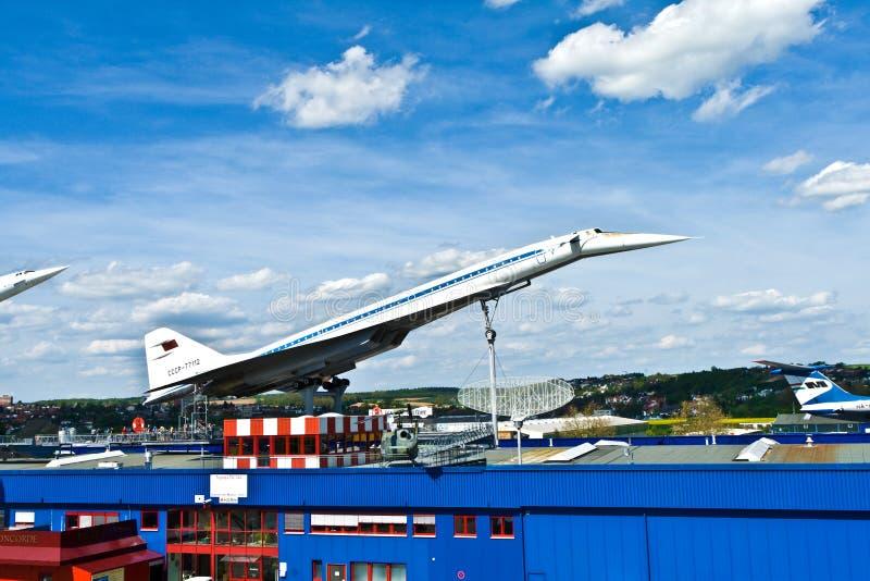 Зазвуковой Туполев TU-144 воздушных судн стоковые изображения