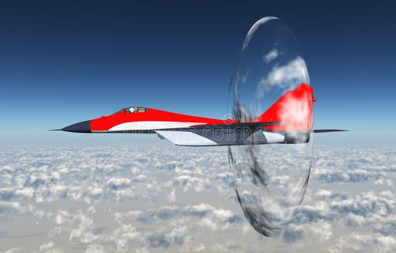 Зазвуковые воздушные судн иллюстрация вектора