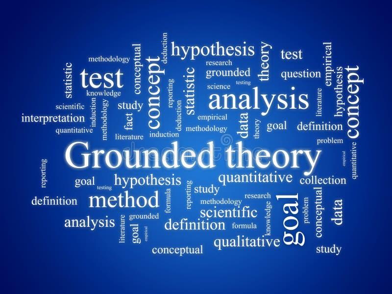 заземленная теория иллюстрация вектора