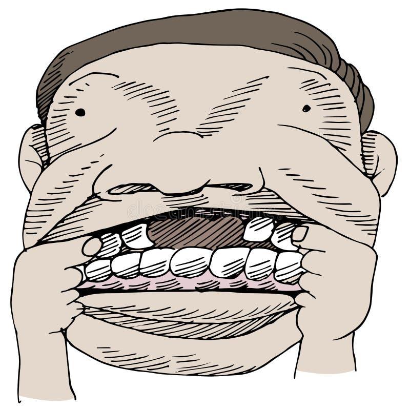 Зазор зуба иллюстрация вектора
