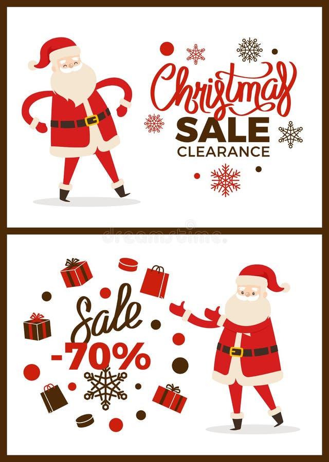 Зазор продажи рождества, иллюстрация вектора иллюстрация вектора