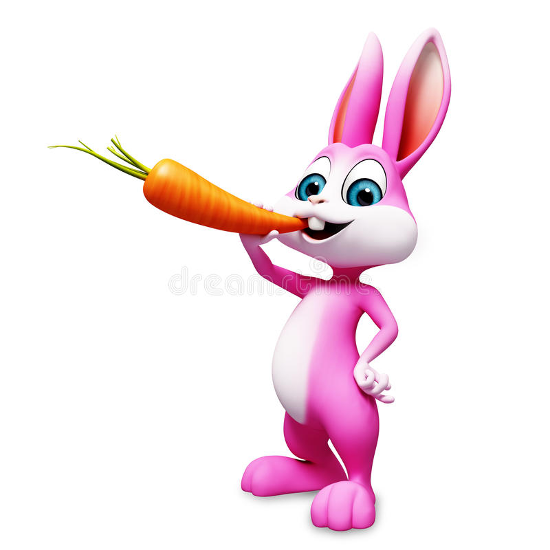 Зайчик ест морковь бесплатная иллюстрация