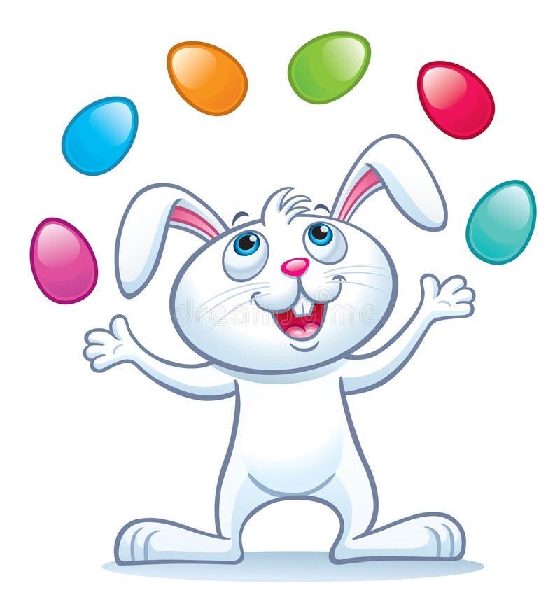 Зайчик жонглируя пасхальными яйцами бесплатная иллюстрация