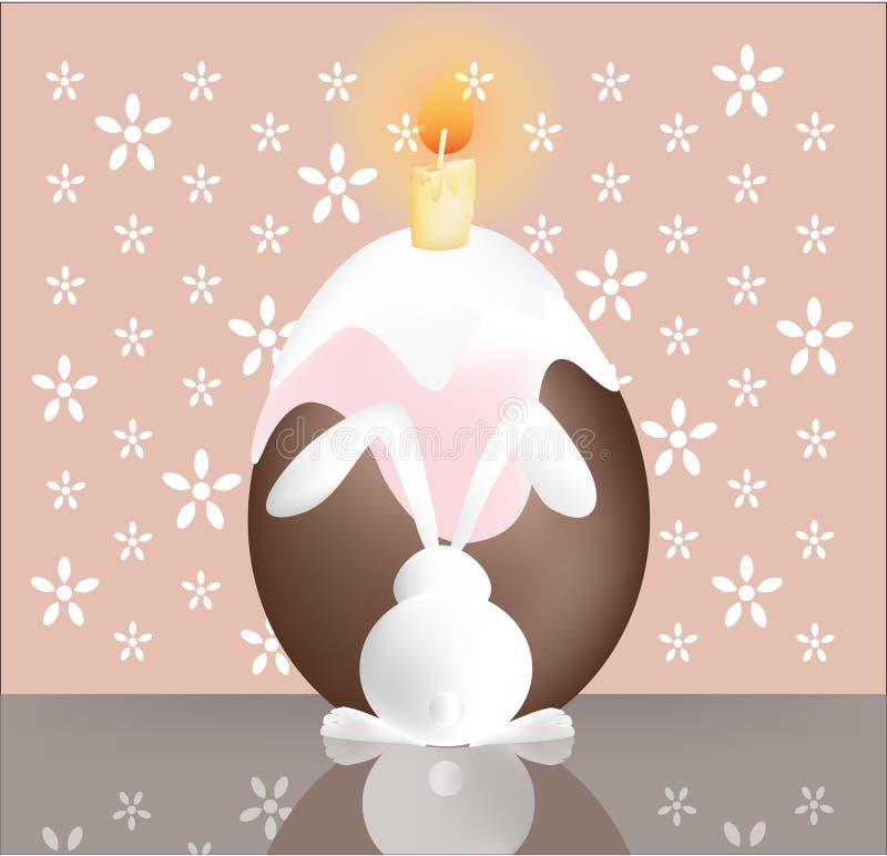 Зайчик пасхи с тортом. бесплатная иллюстрация