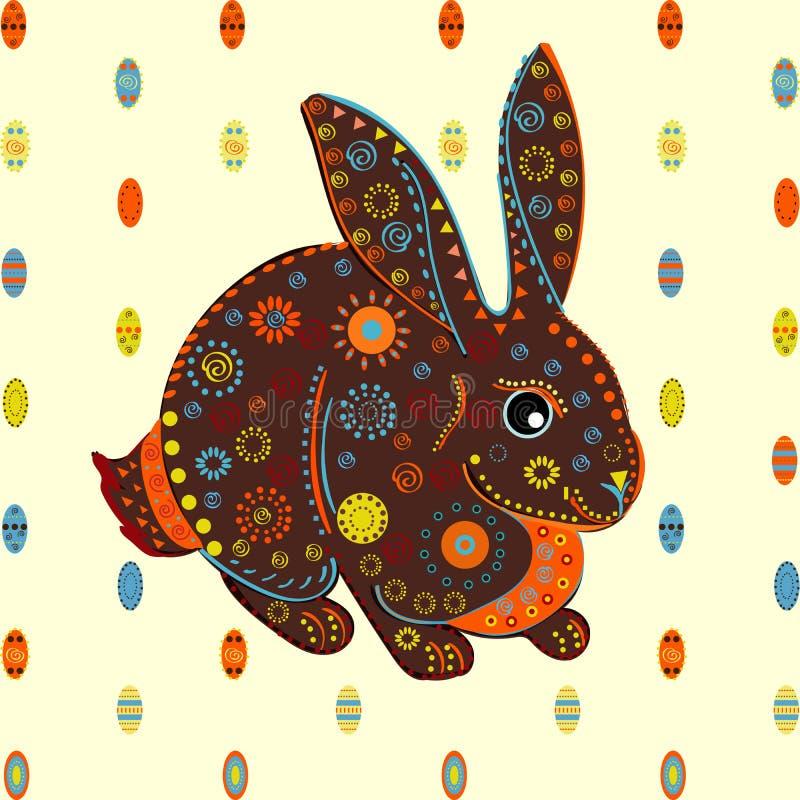 Зайчик пасхи eggs вектор предпосылки иллюстрация штока
