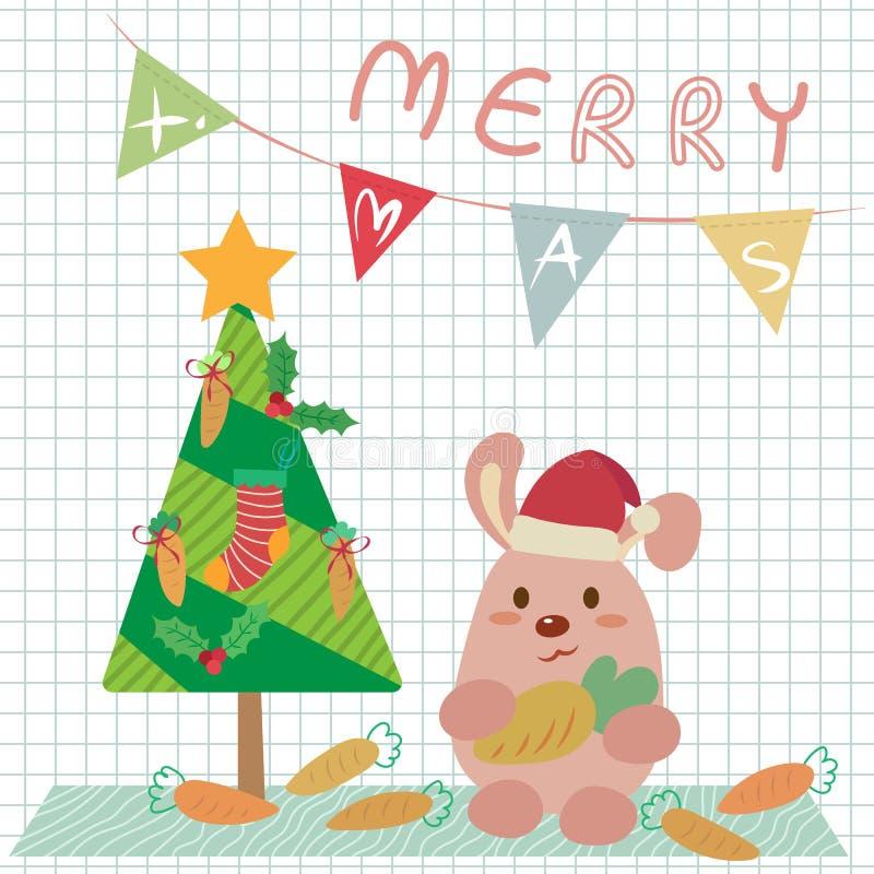 Зайчик рождества иллюстрация вектора