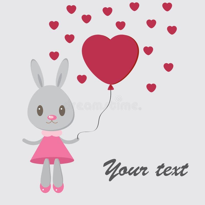 Зайчик с heart1 стоковое изображение
