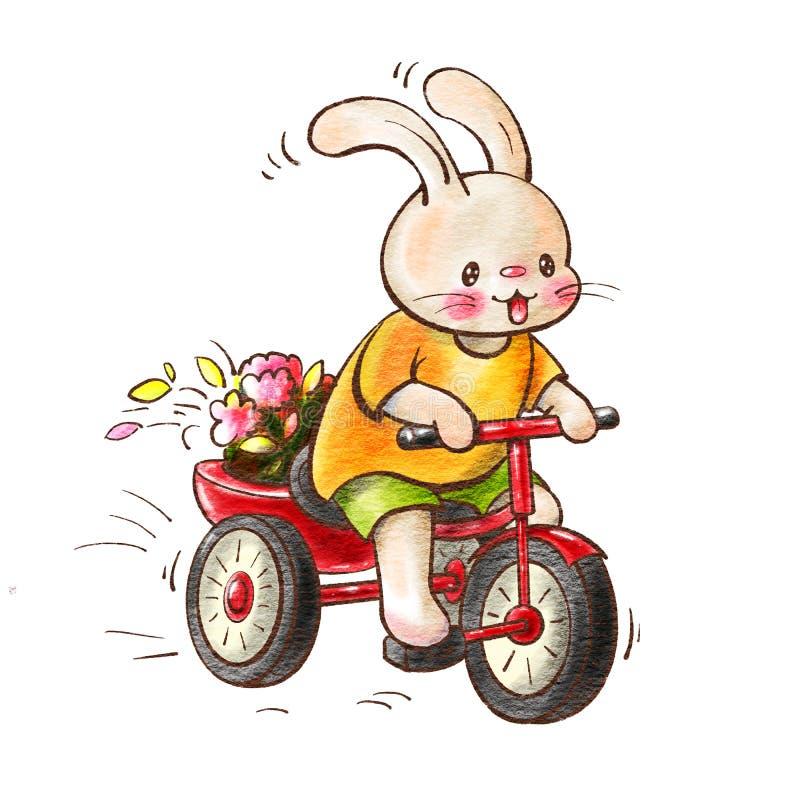 Зайчик Юта ¡ Ð на велосипеде бесплатная иллюстрация