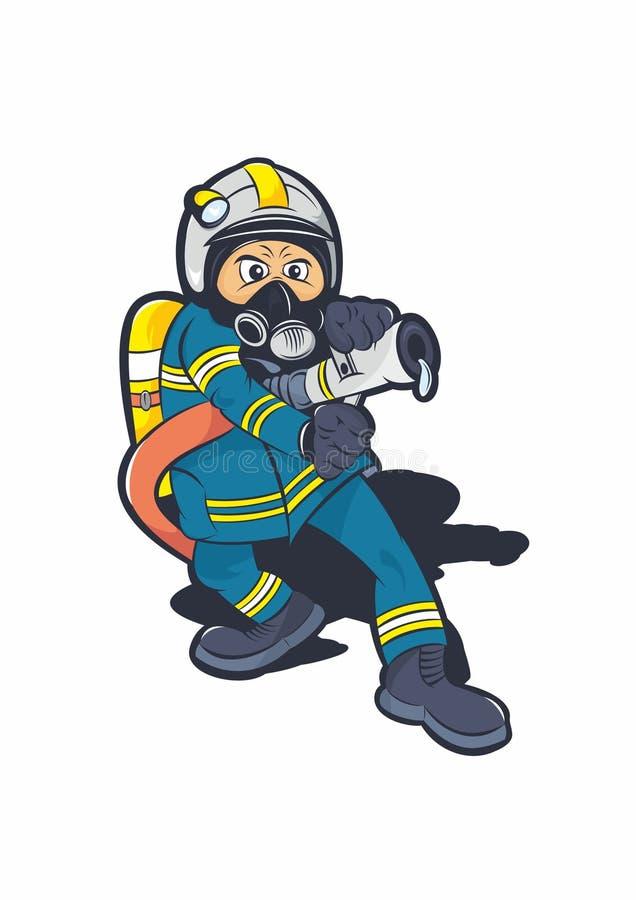 Закаленная иллюстрация пожарного бесплатная иллюстрация