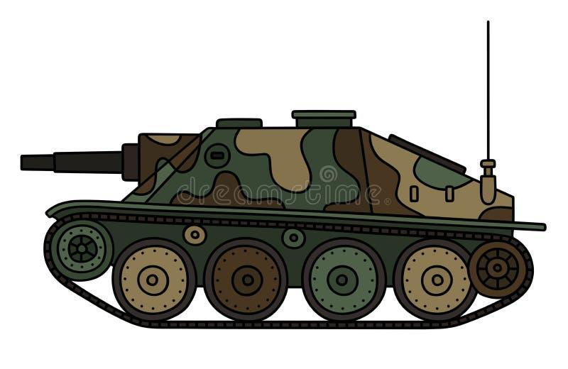 Закамуфлированный годом сбора винограда разоритель танка иллюстрация штока