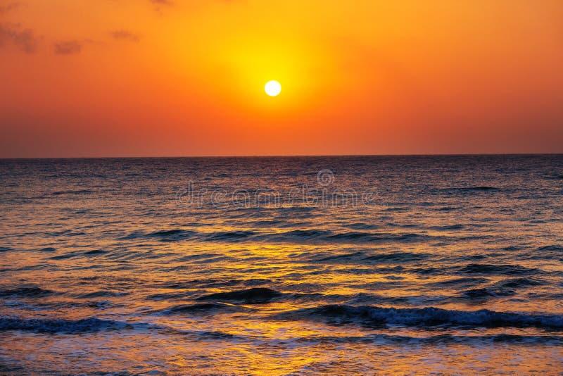 Закат моря стоковые изображения rf