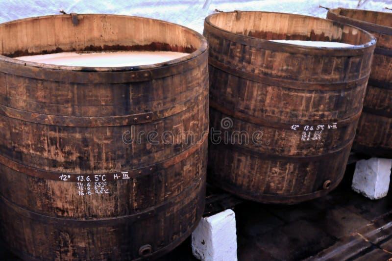 заквашивание винзавода историческое стоковое фото rf