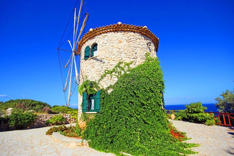 Закинф, Греция - ветрянка стоковые изображения