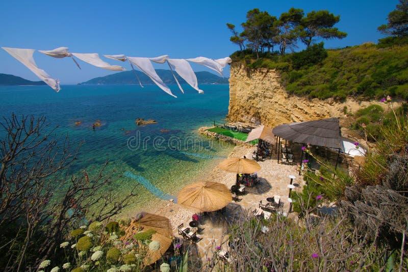 Закинф, Греция - Marathonisi - остров черепахи стоковые фотографии rf
