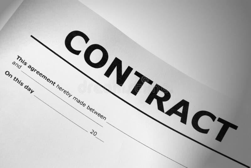 Заключите контракт титульный лист стоковое изображение rf