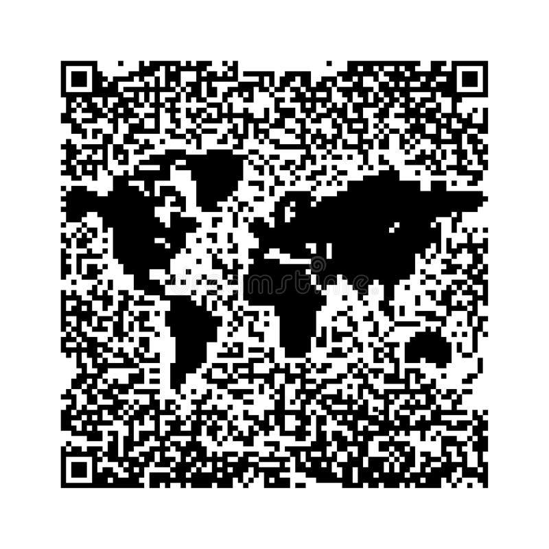 закодируйте мир qr карты иллюстрация штока
