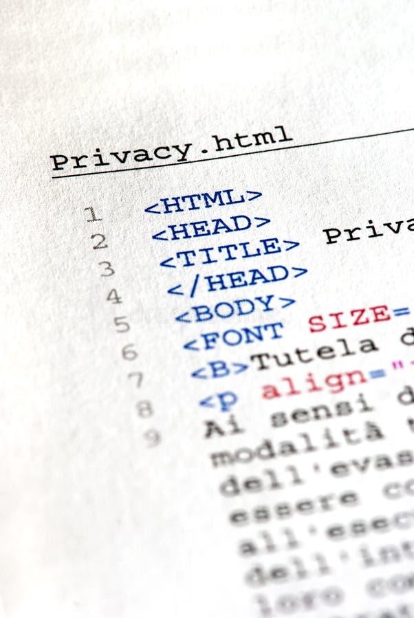 закодируйте HTML стоковое фото rf