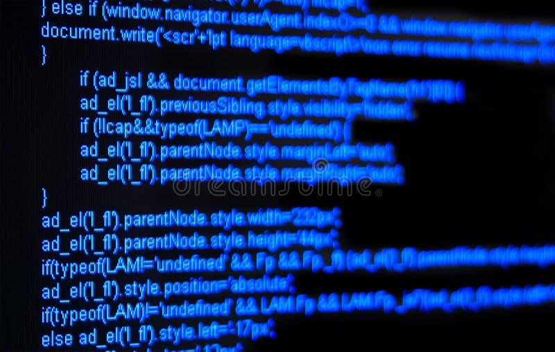 закодируйте HTML стоковое изображение rf