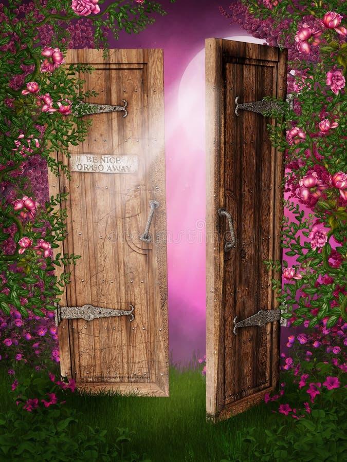 заколдованная дверь иллюстрация штока