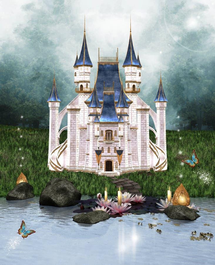 Заколдованный замок иллюстрация вектора