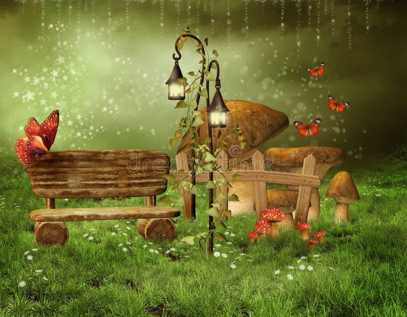 заколдованный fairy сад бесплатная иллюстрация