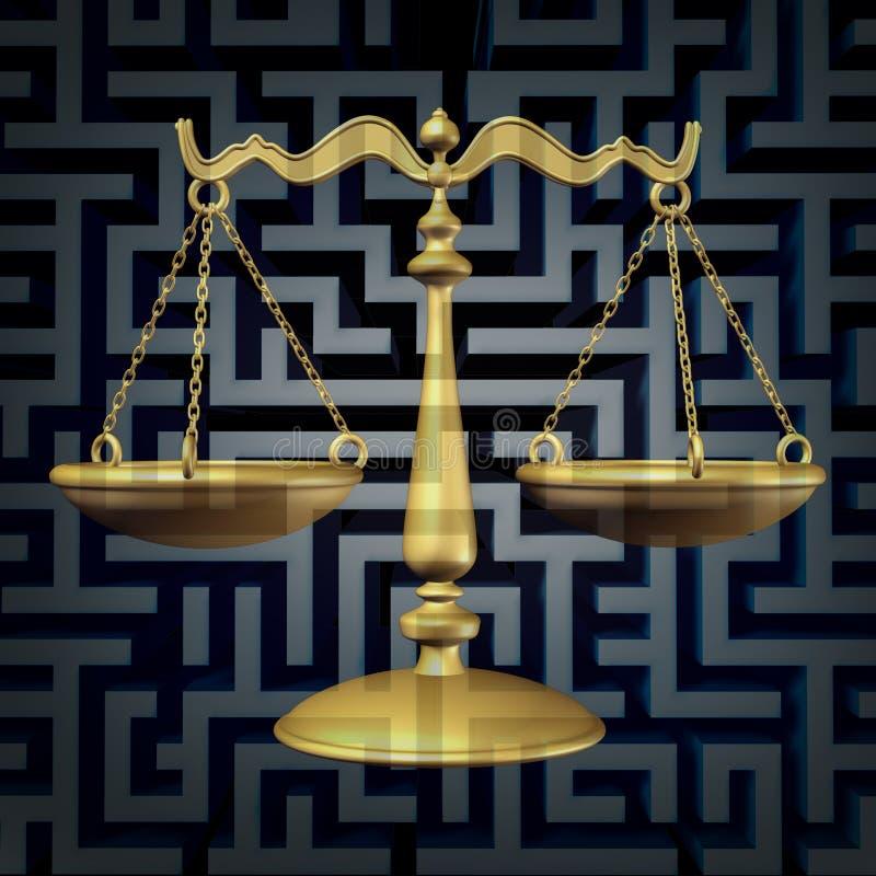 Законная запутанность иллюстрация вектора