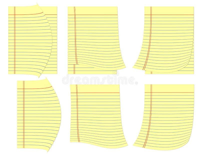 Законные телефонные справочники с скручиваемостью на углах. иллюстрация вектора