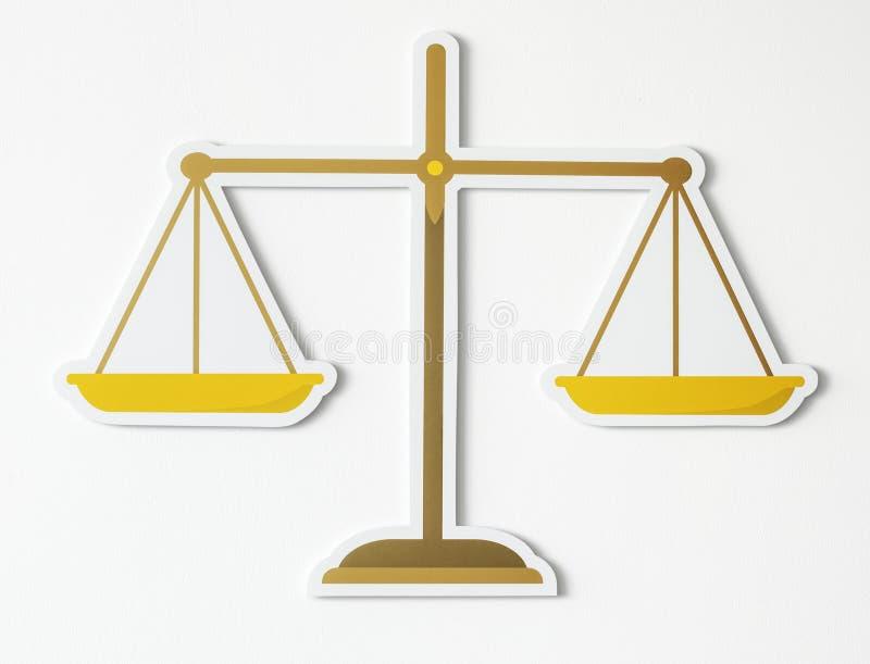 Законный масштаб значка правосудия бесплатная иллюстрация