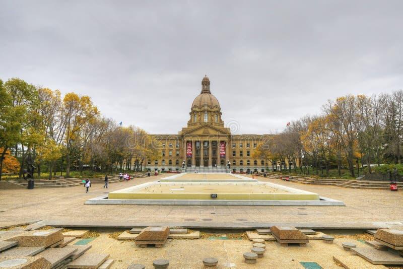 Законодательая власть Альберты, Канады в падении стоковая фотография