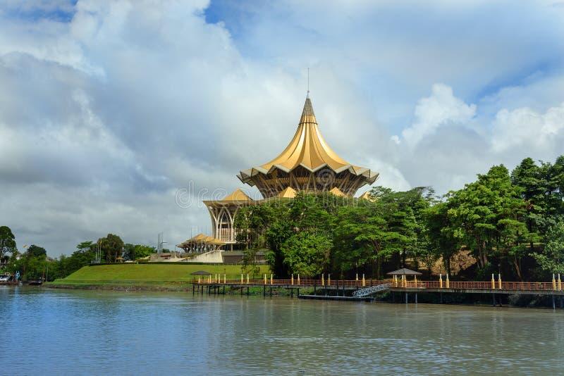 Законодательная ассамблея положения Саравака в Kuching стоковая фотография