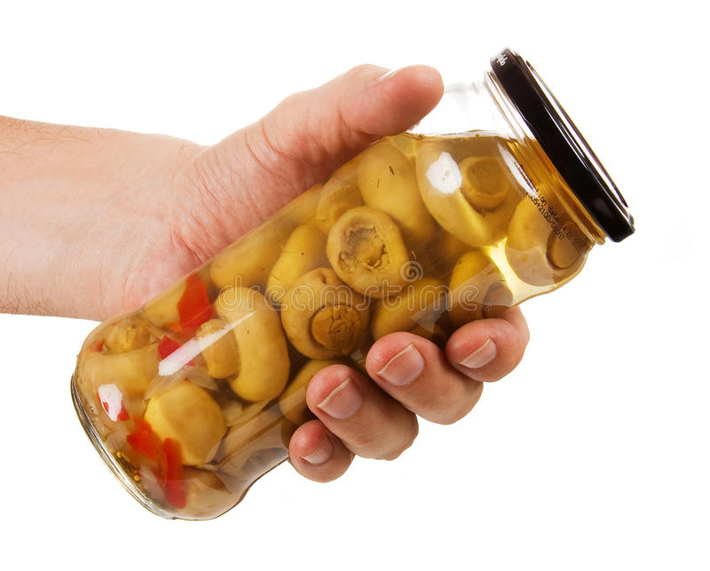 законсервированные грибы опарника стоковая фотография