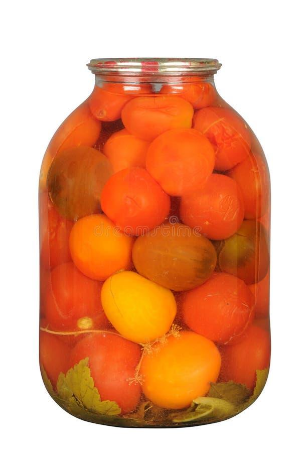 законсервированный томат красного цвета опарника стоковое изображение