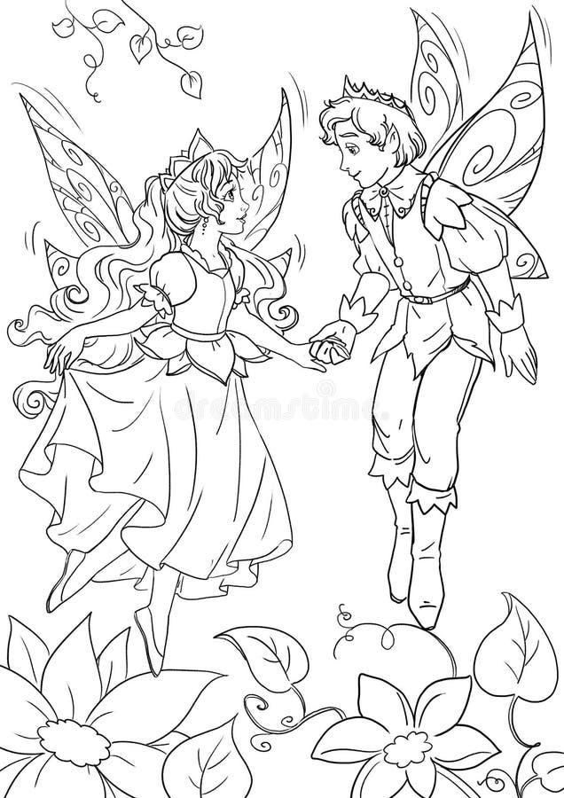 Законцовка сказки ` s Thumbelina счастливая иллюстрация штока