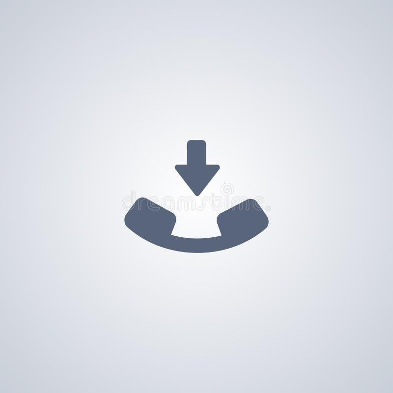 Закончите звонок, признавайте звонок, значок вектора самый лучший плоский иллюстрация штока