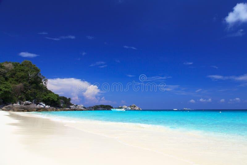закончите съемку сделанную островом phi s в феврале моря Таиланд стоковые изображения rf